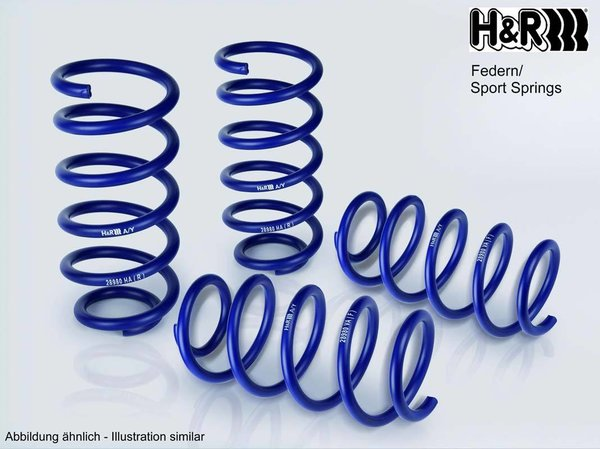 H&R 29270-4 Sportfedersätze/Performance Lowering Springs 40mm
